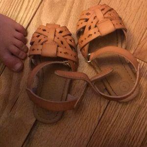 Little girl sandals. Worn a few times